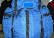 Mochila verano azul electrico 50+15 litros mochila-v6 nacional nueva