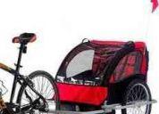 trailer de bicicleta para 2 ninos o 1 solo