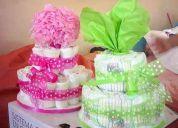 regalos para bebes, hermosas originales tortas de pañales, y articulos bebes telf:3464993