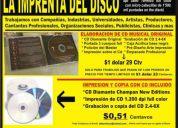 Impresion y copia de cd  y  gratis  tarjetas de presentaciÓn