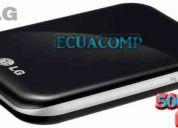 Disco duro externo de bolsillo lg 500gb conexión usb negro