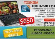 Toshiba portatil intel core i3 de remate
