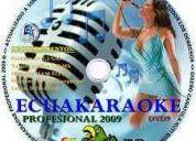 Vendo karaoke ecuakaraoke de  4500 cansiones  ciber music