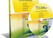 curso audiovisual office 2007 - word - excel - power point - onenone - outlook