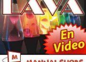 Cursos y manuales lampara lava, nube, bola plasma, cd neón