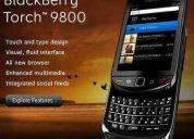 Blackberry torch 9800 3g caja accesorios extras micro sd 4gb estuche original de cuero!!!