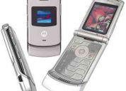 Motorola v3 razar silver flamante
