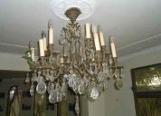 lamparas de bronce fundidas italianas tipo araña de 12 luces