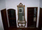 Mesa de mármol y consola con espejo original de castillo francés