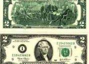 Billete de 2 dolares americanos