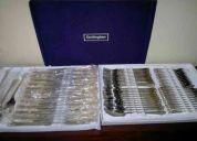 Cubiertos aleman para 12 personas con filo de oro gottinghen