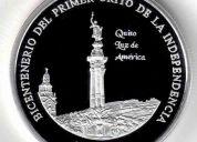 Moneda de plata proof - bicentenario 1809 - 1810