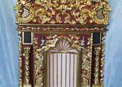 Vendo trabajos tallados en madera y recubiertos en pan de oro