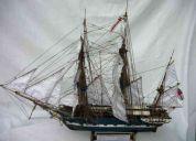 Maqueta del barco beagle de charles darwin 60 cm esc 1/75