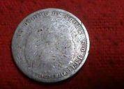Moneda de un décimo de sucre del ecuador del año 1889