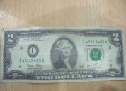 Un billete de 2 dolares