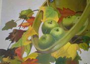 Cuadro al oleo de manzanas