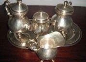Juego de té de plata italiana
