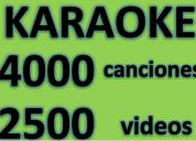 Karaoke 4000 canciones y 2500 videos