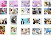 Coleccion de diseños psd= 15 años , bautizos, matrimonios, primeras comuniones.