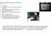 Dvd portatil coby de7 pulgadas con mp3 semi nuevo