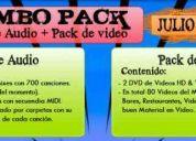 Combo pack vdj (audio remix & video hd) octubre 2011 - para bares, discotecas, aficionados