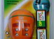 Combo: 2 baterias recargables ni mh de 9v, 170 mah + cargador