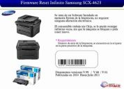 Toner scx-4623  recarga, reset impresora nuevos modelos 20usd