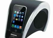 Parlante panasonic dock ipod y iphone 20w usb