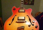 Guitarra clasica con detalles en oro  americana modelo 1973  para jazz y blues