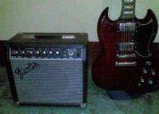 Guitarra epiphone sg g400 + amplificador fender frontman 15r