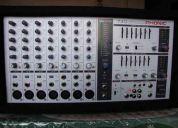 consola phonic 740 y 2 cajas acusticas pasivas
