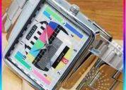 Reloj diseño tv original de acero envío gratis $$19,99