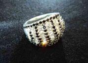 anillo de plata pura (no aleación, no esterlina)