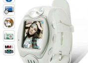 Reloj celular white elegant tactil mp3camara remate 1gb gratis