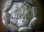 Bandeja labrada en plata fina 925