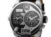 Reloj diesel dz7125 grande metalico y cuero