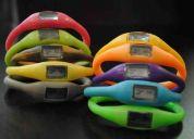 relojes pulsera de silicona, varios colores