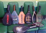 Raquetas para squash y raquetball