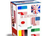 Aprende 18 idiomas ingles francés aleman japones chino ruso