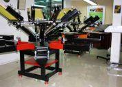 Maquinas para estampados textiles, termofijadoras, sublimadoras, revelados, hornos, serig