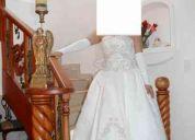 Hermoso vestido de novia americano de casa de modas david`s bridal