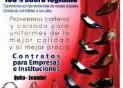 Carteras y calzado ejecutivo en cuero para uniformes de empresas 02-2558-851