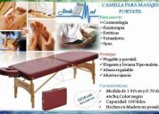 Camilla portÁtil tipo maleta elegante y transportable para masajes, spas, fisioterapia etc