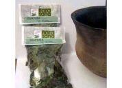 guayusa. hojas secas para infusión. funda de 30gr.