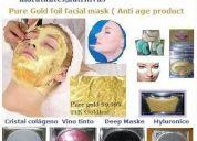 Mascarilla facial de colageno cristal