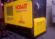 Motosoladora hobart con motor deutz