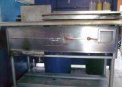 Freidora de acero inoxidable con plancha