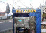 Se vende maquina de helados con puesto en santamaria