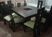 Vendo juego de comedor moderno y muebles